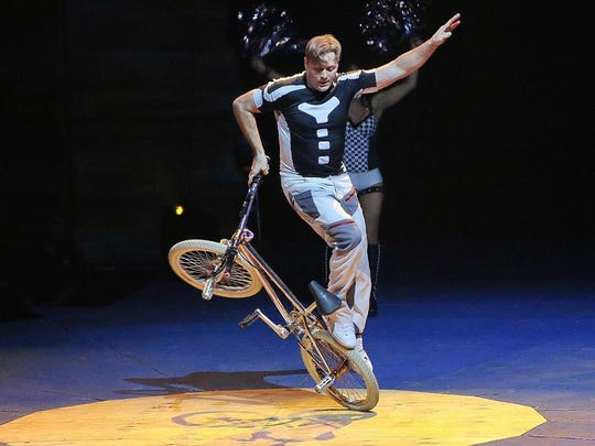 """Americas got Talent"" Zeman Duo perform at Cirque Italia, a traveling water circus show."