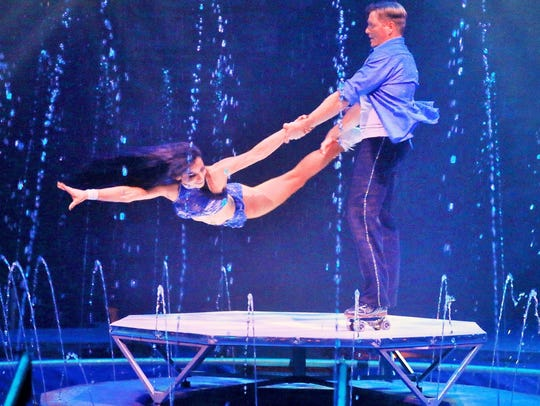 "Performers at Cirque Italia's ""Water Circus."""