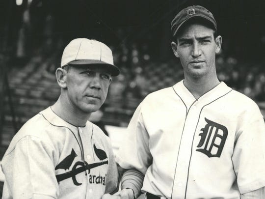Bill Hallahan and Schoolboy Rowe, the rival pitchers of the second game of the World Series.