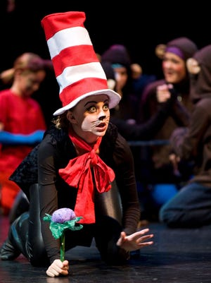 """Abigail Rose Nakken played the Cat in the Hat during a Utah Shakespeare Festivals Playmakers production of """"Seussical."""""""