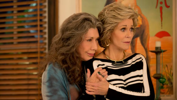Our bffs Frankie (Lily Tomlin) and Grace (Jane Fonda).