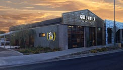 An exterior rendering of Goldwater Brewing Co.