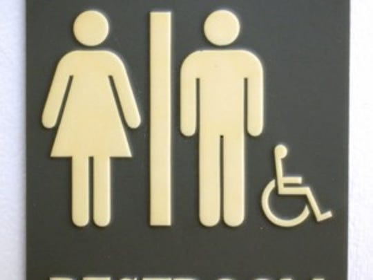 Grinnell (Iowa) College has gender neutral housing as an option for students living in dorms. This restroom sign is found on campus and is common in public buildings everywhere.