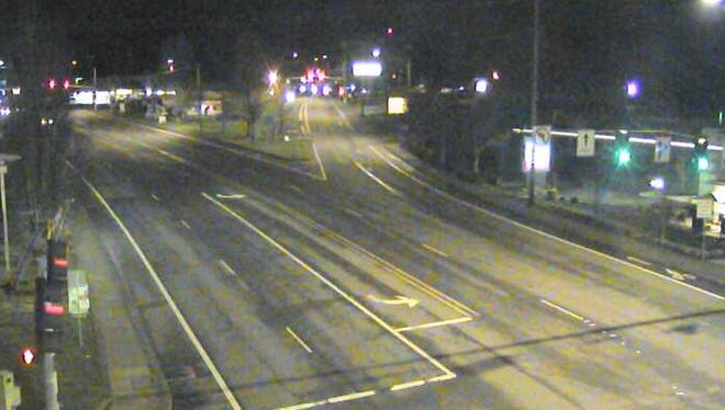 Dry roads at Commercial and Fairview Monday morning.