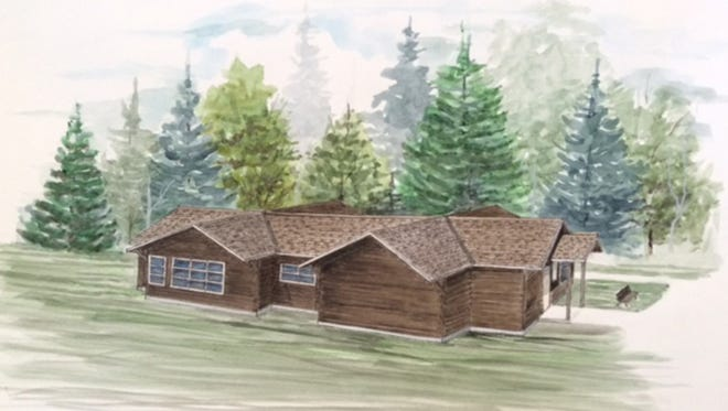 Drawing of proposed Nature Center expansion at Peninsula State Park