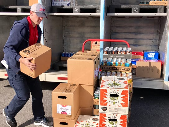 Delivery driver Kyle Rodman has 52 stores on his route,