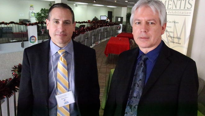Dr. Ramon F. Cestero, left, of the University of Texas Health Science Center at San Antonio, and Dr. Alan H. Tyroch of Texas Tech University Health Sciences Center El Paso, took part in the 16th Annual Rio Grande Trauma Conference on Friday.