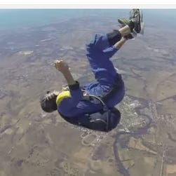Christopher Jones has a seizure while skydiving in Australia.