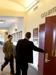 Cody Soto enters the courtroom on Jan. 20 at the Eleventh