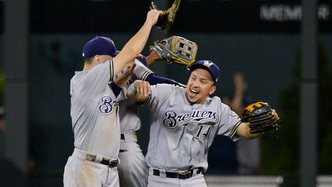 Fans would like to see more celebrations from Hernan Perez and the Brewers.