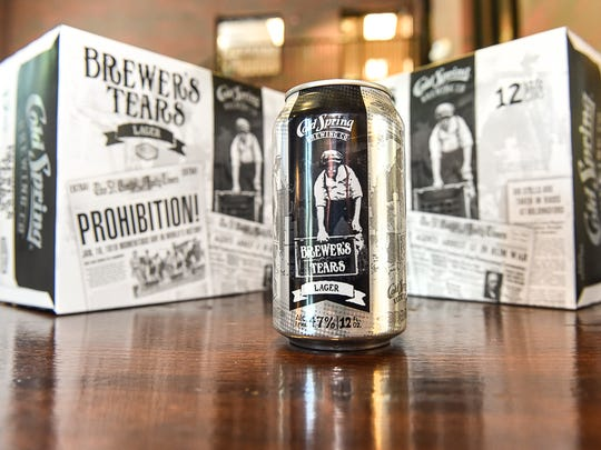 """Third Street Brewhouse's newest beer, dubbed """"Brewer's Tears,"""" is shown Thursday, June 1, in Cold Spring. The pre-Prohibition recipe by brewmaster Eugene Hermanutz was recently found in an old file cabinet at the brewery."""