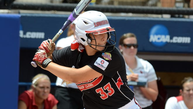 UL softball lost 3-1 to the Oklahoma Sooners to be eliminated from the Women's College World Series on Saturday, May 31, 2014.