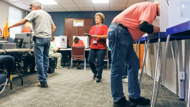 Hundreds of registered voters in Otero County showed up to vote at the County Administration Building, 1101 New York Ave. Rm. 101 Tuesday, Oct. 11 and Wednesday, Oct. 12. Early voting will end Saturday, Nov. 5.