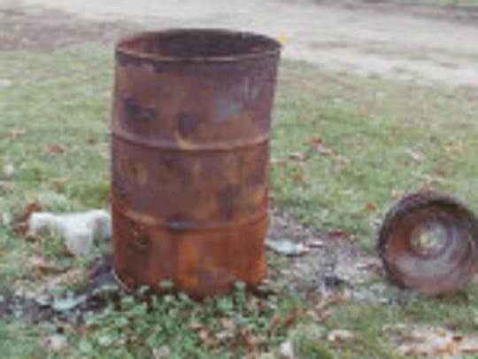 Burn barrel seized by the Manitowoc County Sheriff's