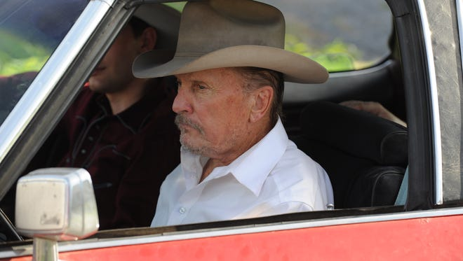 '?A Night in Old Mexico' stars Robert Duvall. as Texas rancher Red Bovie, who is forced to give up his land and home.