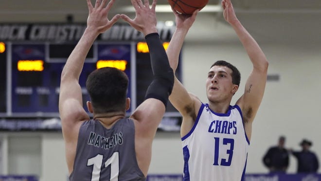 Sophomore guard Silas Crisler (13), who averaged 4.7 points per game this past season, is transferring to Quincy University, Chaps coach Todd Duncan said. Quincy is an NCAA Division II school in Illinois.