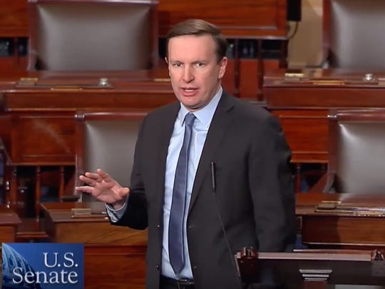 """Sen. Chris Murphy, who sits on the Senate Foreign Relations Committee, said Russian President Vladimir Putin is """"carefully and quietly trying to destroy democracies all around his periphery"""" because """"he wants to re-establish a new version of the Soviet Union."""""""