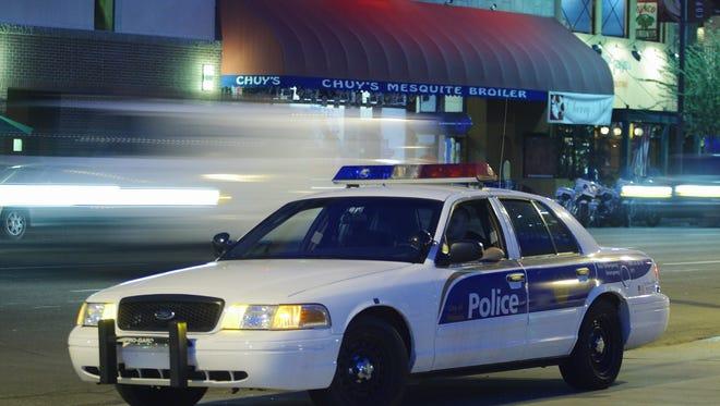 Phoenix Police Department patrol car.
