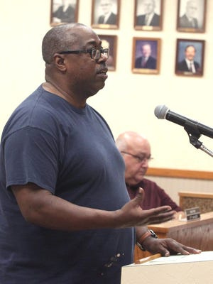 Moberly Caring Communities member Brian Williams spoke in support Monday of a plan to redevelop the old Moberly Junior High School building into low-income senior citizen housing. He also provided suggestions on other uses for the building if tax credits needed for the redevelopment are not approved.