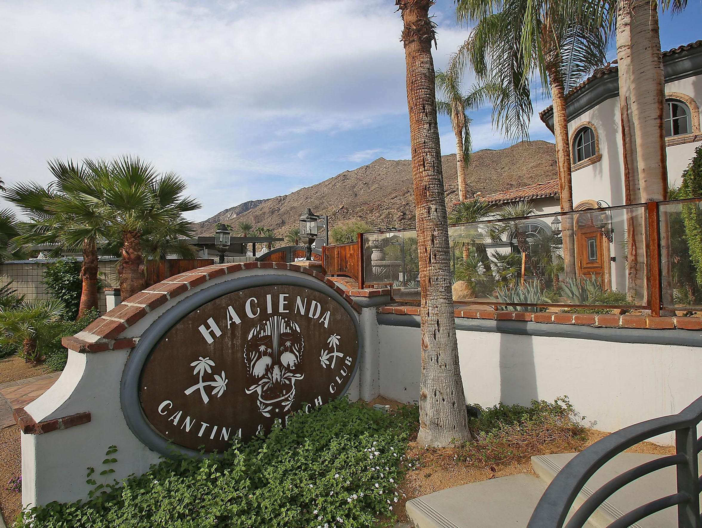 The Hacienda Cantina and Beach Club in Palm Springs.