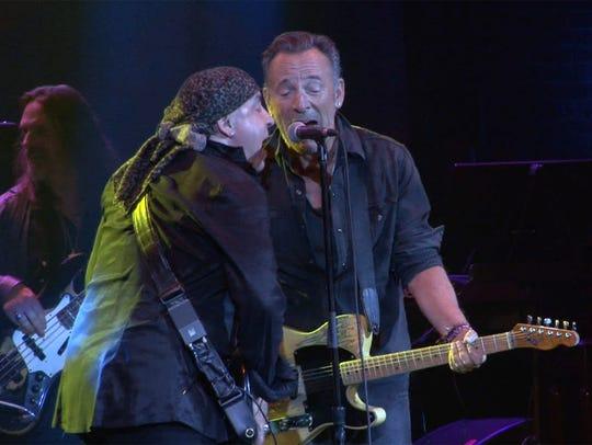 Little Steven Van Zandt (left) and Bruce Springsteen