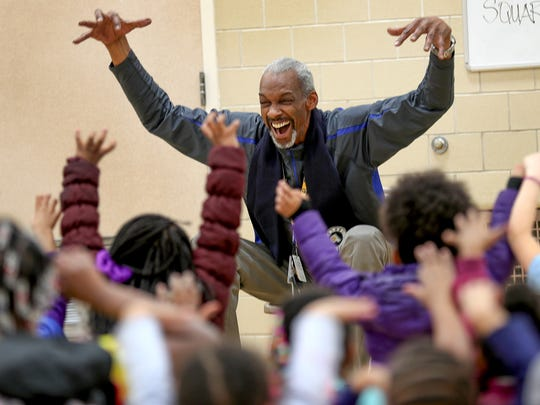 Darnell Hillman is adored by the kids he works with in his job with Pacers Sports & Entertainment.