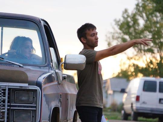 South Dakota native Andrew Kightlinger on set while