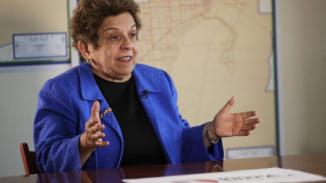 FILE - In this March 7, 2018 file photo, former Health and Human Services secretary Donna Shalala speaks during an interview in Miami.   Shalala is embarking on a new adventure: a Democratic run for the U.S. House. The Miami-area District 27 seat, long occupied by retiring moderate Republican Rep. Ileana Ros-Lehtinen, is viewed as one of the best chances nationwide for a Democratic pickup.  She has been the favorite in Tuesday, Aug. 28, 2018 Democratic primary, with state Rep. David Richardson mounting a challenge. The winner will face one of nine Republicans in November.