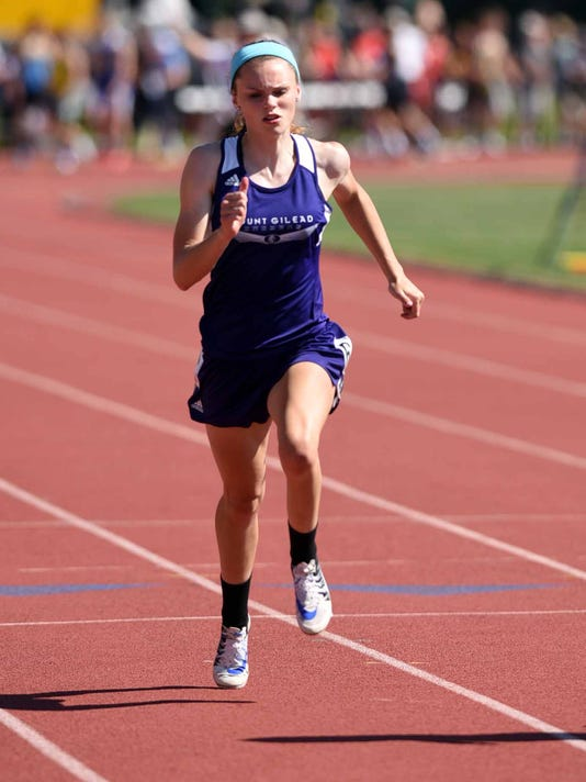 Mount Gilead girls track Olivia Brewer