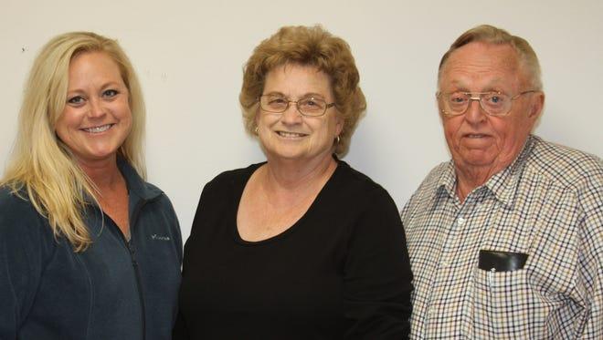 The Van Wyk family includes, from left, Marcy Van Wyk-Haddrell, Loretta Van Wyk and Vernon Van Wyk.