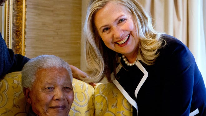 As secretary of State, Hillary Rodham Clinton paid a visit to Nelson Mandela in 2012.