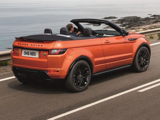 Land Rover has taken the roof off its Evoque SUV, making