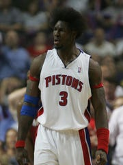 Detroit Pistons center Ben Wallace in 2005.