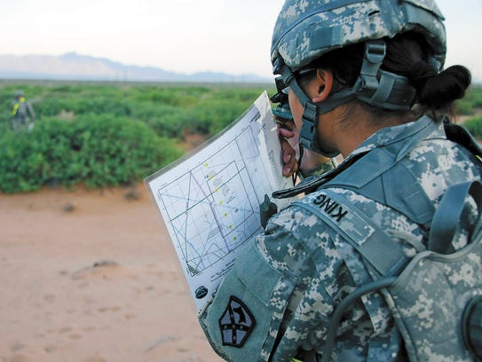 Warrior Leaders Course students conduct land navigation.