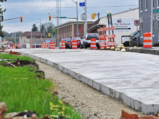 Precast plates are being used to rebuild South A Street
