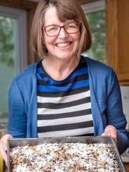 Regina Dunst still makes recipes from a cookbook of