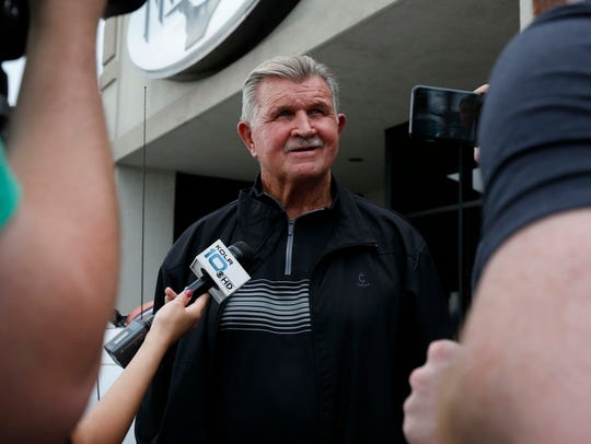 The Legendary Chicago Bears coach Mike Ditka seen here