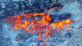 Embers from an unattended campfire not properly extinguished can flare back up with some wind.