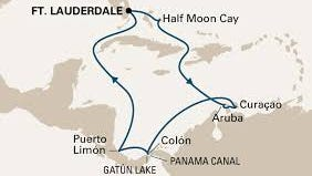 A map of the cruising route.