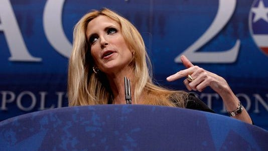 Ann Coulter delivers remarks to the Conservative Political Action Conference (CPAC) at the Marriott Wardman Park in 2012.