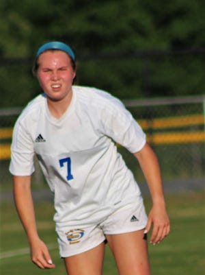 Wren's Elizabeth Sutton was named the Region I-AAAA player of the year in girls soccer on Thursday.