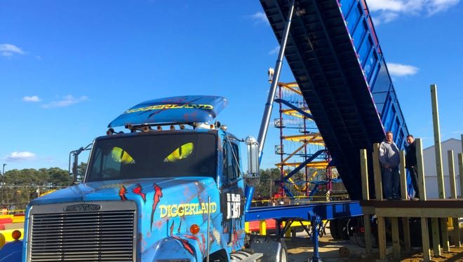 The Greased Beast is the newest addition to Diggerland.
