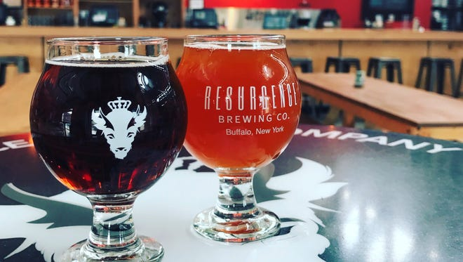 Beers inside Buffalo's Resurgence Brewing, which announced plans Thursday to open a sour-only facility in Batavia.