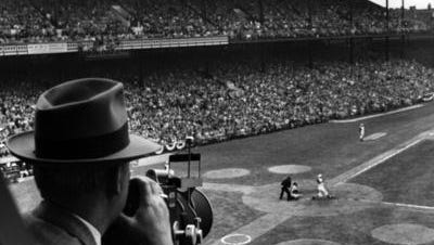 Crosley Field during Opening Day 1957.