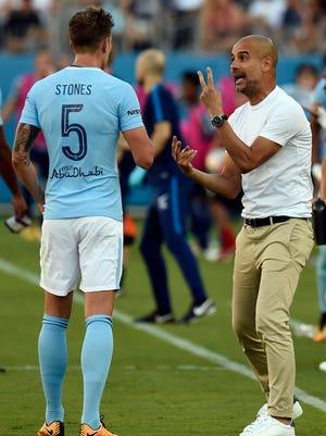 Pep Guardiola enters his second season as coach of Manchester City.