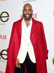 "Karamo Brown attends the premiere of Netflix's ""Queer Eye"" Season 1 at Pacific Design Center on February 7, 2018 in West Hollywood, California."