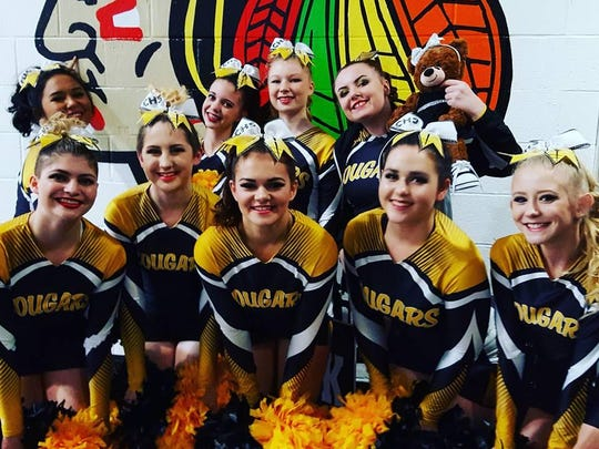 The Cascade cheer squad showed its spirit at the OSAA Cheer Championships held Feb. 11.