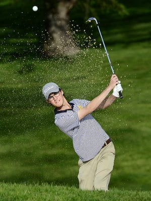 Pittsford Sutherland's Danny Gianniny finished third at the boys state golf championship on Monday to lead all Section V golfers.