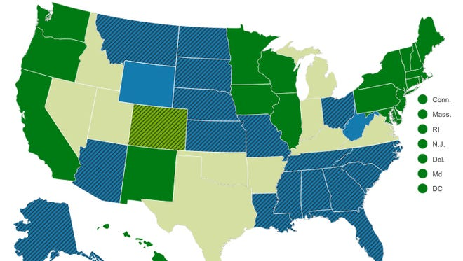 Gay marriage laws by state.