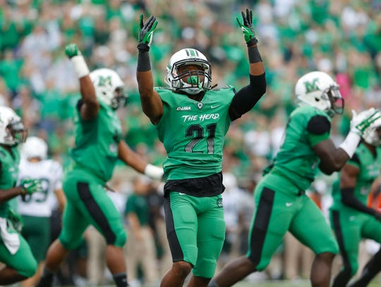 Marshall Thundering Herd safety Tiquan Lang (21).